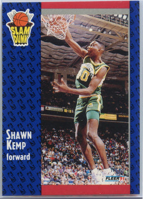 1991 Fleer Basketball Shawn Kemp SLAM DUNK Card #231