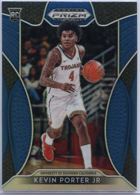 Blue Prizm 2019 Draft Picks Kevin Porter Jr Rookie Card #30 USC Trojans