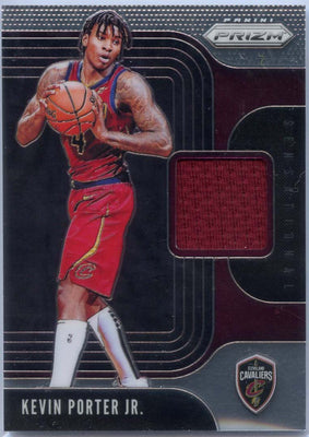 2019-20 Panini Prizm Basketball Sensational Jersey Patch Kevin Porter Jr Rookie Card SS-KPJ Cavs