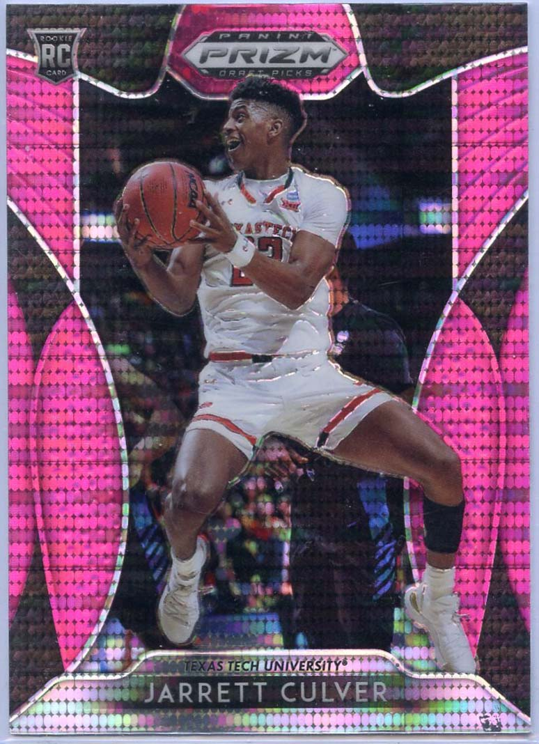 Jarrett Culver Pink Pulsar Prizm Rookie Card #69 Panini Prizm Draft Picks Texas Tech