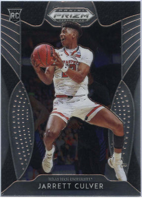 Jarrett Culver Rookie Card Base 2019 Prizm Draft Picks #69