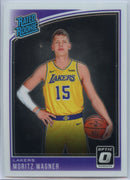 2018-19 Donruss Optic Basketball Moritz Wagner RATED ROOKIE Card #197 Lakers Forward