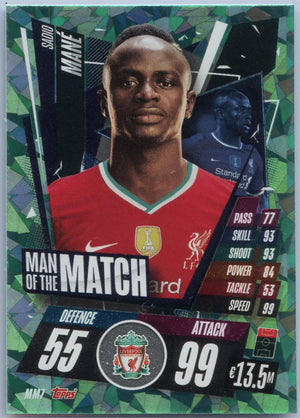 2020-21 Topps Attax Soccer Sadio Mane Man of the Match Card #MM7