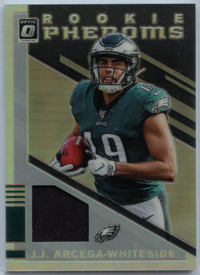 2019 Donruss Optic Rookie PHENOMS JJ Arcega-Whiteside Jersey Patch PRIZM Card #RP23 Eagles WR