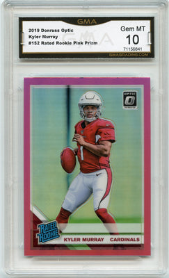 2019 Donruss Optic Kyler Murray PINK PRIZM Rated Rookie Card #152