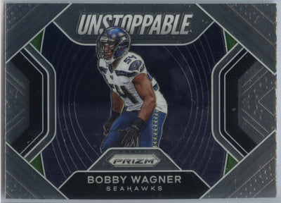 2020 Prizm Football Bobby Wagner UNSTOPPABLE Card #7 Seahawks