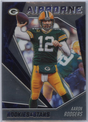 2020 Rookies & Stars Aaron Rodgers AIRBORNE Card #AB-6 Green Bay Packers