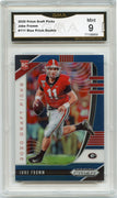 2020 Prizm Draft Picks Jake Fromm BLUE PRIZM Rookie Card #111