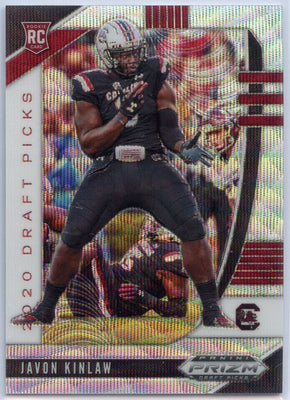 /299 2020 Prizm Draft Picks Football Javon Kinlaw Rookie Card #161 Wave Prizm South Carolina