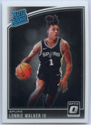 2018-19 Donruss Optic Basketball Lonnie Walker IV RATED ROOKIE Card #174 San Antonio Spurs