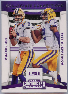 2020 Contenders Draft Picks COLLEGIATE CONNECTIONS Joe Burrow & Justin Jefferson #5 LSU Tigers