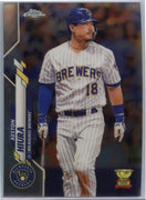 2020 Topps Chrome Baseball Keston Hiura Card #25 Brewers