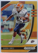 106/149 Aaron Jones NEON ORANGE PRIZM Card #2 2020 Prizm Draft Picks Football Running Back UTEP / Packers
