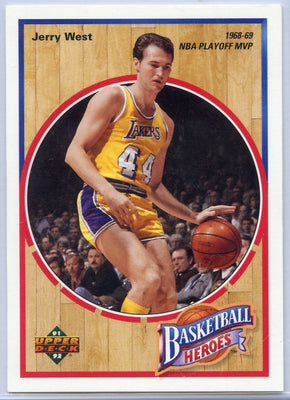 1991-92 Upper Deck BASKETBALL HEROES Jerry West Card 3 of 9 LA Lakers