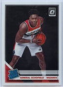 2019-20 Donruss Optic Basketball Admiral Schofield RATED ROOKIE Card #187 Washington