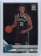 2019-20 Donruss Optic Basketball Nicolas Claxton RATED ROOKIE Card #171 Brooklyn Nets