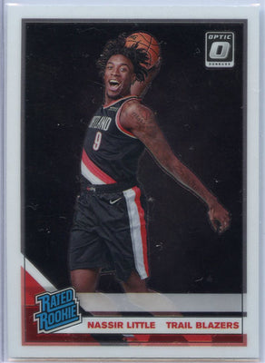 2019-20 Donruss Optic Basketball Nassir Little RATED ROOKIE Card #154