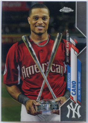 2020 Topps Chrome Update Robinson Cano All-Star Game card U-97