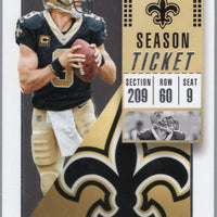 Drew Brees 2018 Panini Contenders #33 Saints card
