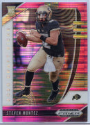 Steven Montez PINK PULSAR Rookie Card #123 2020 Prizm Draft Picks Colorado QB