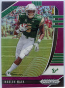 Marlon Mack PURPLE PRIZM Card #68 2020 Prizm Draft Picks South Florida RB