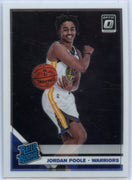 2019-20 Donruss Optic Basketball Jordan Poole RATED ROOKIE Card #169 Golden State Warriors