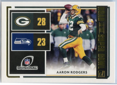 2020 Donruss Football ROAD TO THE SUPER BOWL Aaron Rodgers Card #RSBDR-AR