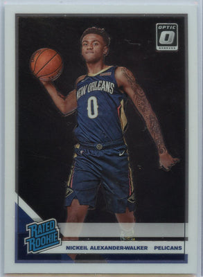 2019-20 Donruss Optic Basketball Nickeil Alexander-Walker RATED ROOKIE Card #184 New Orleans