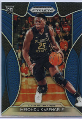 Mfiondu Kabengele 2019 Panini Prizm Draft Picks Blue Rookie Card #91 Florida State University