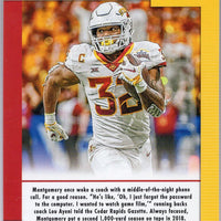 2019 David Montgomery Game Day Ticket Iowa State rookie card