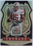 2020 Prizm Draft Picks Football CRUSADE Ezekiel Elliott SILVER PRIZM Card #50