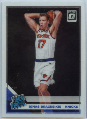 2019-20 Donruss Optic Basketball Ignas Brazdeikis RATED ROOKIE Card #173 New York Knicks