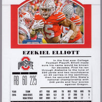 2019 Panini Contenders Draft Picks Ezekiel Elliott Ohio State Football Card