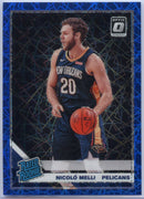 2019-20 Donruss Optic Basketball Blue Velocity Nicolo Melli RATED ROOKIE #163 Card New Orleans Pelicans