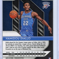 2018-19 Panini Prizm Basketball #9 SILVER Hamidou Diallo rookie card Oklahoma City Thunder