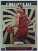 2019-20 Prizm Basketball Dylan Windler SILVER EMERGENT Rookie Card #12 Cavs