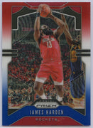 2019-20 Prizm Basketball James Harden Red White Blue Card #107 Houston Rockets