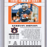 2019 Panini Contenders Draft Picks Kerryon Johnson Auburn football card