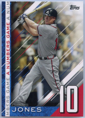 2020 Topps Update Chipper Jones Numbers Game #NG-9 Braves