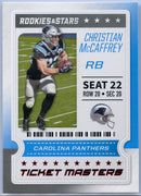 2020 Rookie & Stars Ticket Masters Christian McCaffrey Card #16