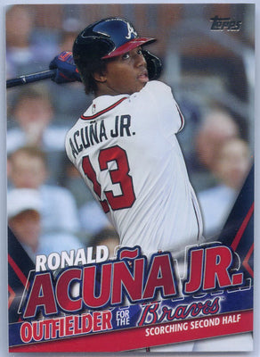 2020 Topps Update Ronald Acuna Jr Scorching Second Half TRA-9