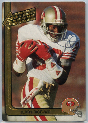 Jerry Rice 1991 Action Packed Braille Card #285 WR 49ers