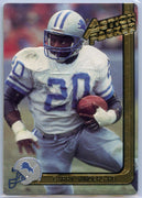 Barry Sanders 1991 Action Packed Braille Card #283 running back for the lions