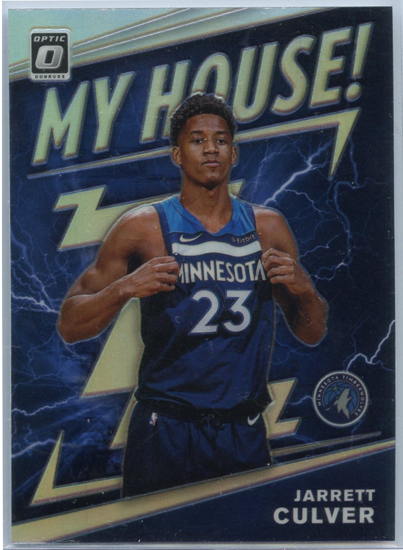 2019-20 Donruss Optic Jarret Culver MY HOUSE PRIZM Rookie Card #19