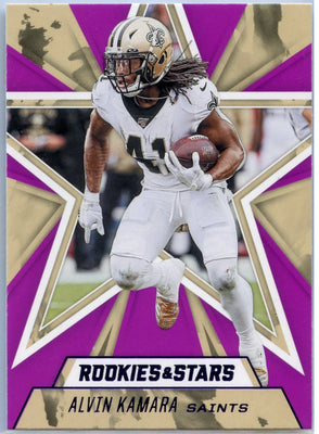 2020 Rookie & Stars Alvin Kamara Purple Parallel Card #79 Saints running back