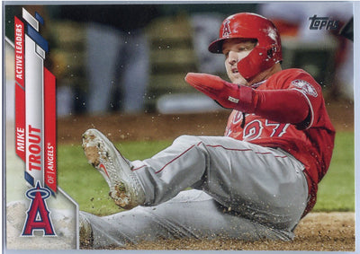 2020 Topps Update Mike Trout Active Leaders in On-Base Percentage U-119