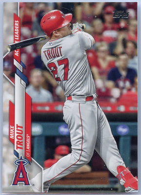 2020 Topps Update Mike Trout Active Leaders in WAR U-292