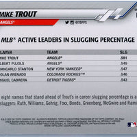 2020 Topps Baseball Update Series Mike Trout MLB Active Leaders in Slugging Percentage number U-243
