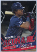 /299 2020 Topps Update Ronald Acuna Jr Black Parallel Reaching New Heights TRA-7 Atlanta Braves