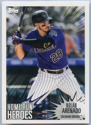 2019 Topps MLB Sticker Collection Nolan Arenado Home Run Heroes / Brett Gardner number 191 Rockies / Yankees